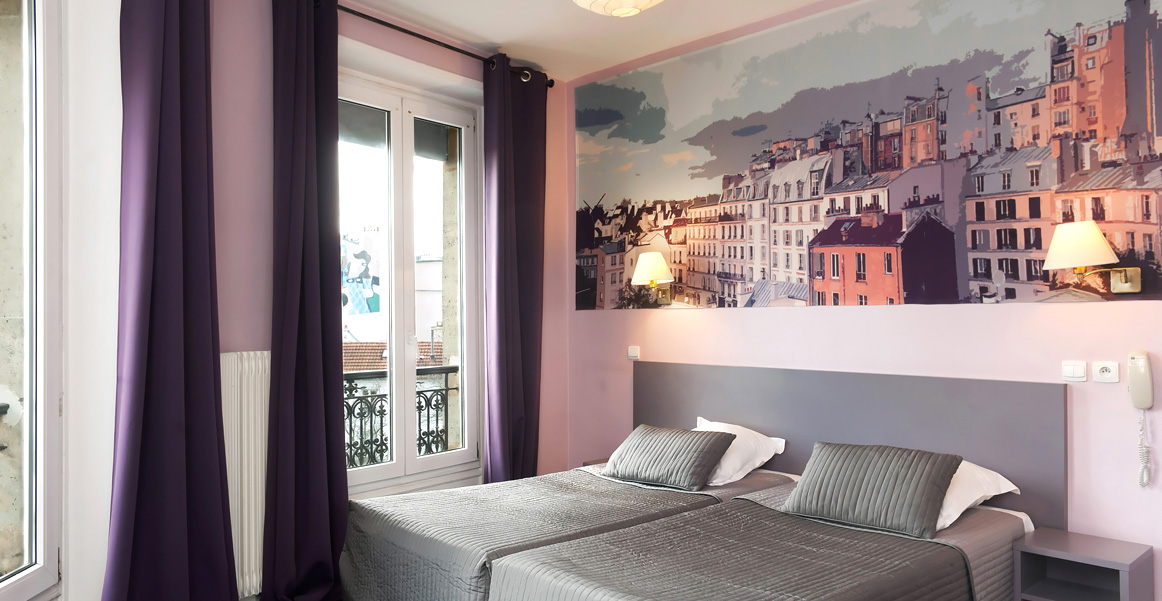Twin baignoire canalsat lits jumeaux hotel odessa paris for Chambre twin