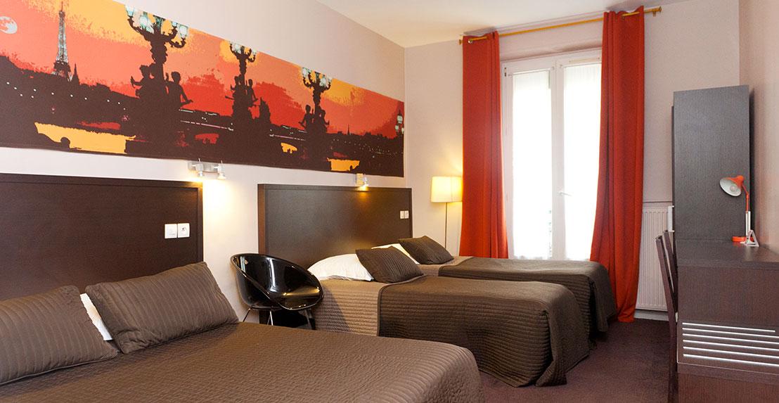 Family room until 4 people hotel odessa paris for Design hotel odessa
