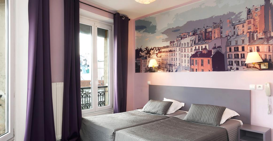 Twin Bathtub Canalsat Twin Beds Hotel Odessa Paris